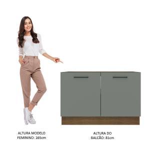 Balcão de Pia Madesa Agata 2 Portas - Rustic/Cinza