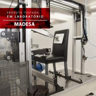 Kit 4 Cadeiras 4290 Madesa - Tabaco/Hibiscos