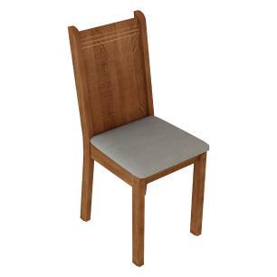 Kit 4 Cadeiras de Jantar 4290 Madesa Rustic/Pérola