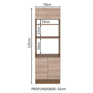 Torre Quente Madesa Stella 70 cm 3 Portas - Rustic/Saara