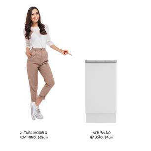 Balcão Madesa Stella 40 cm 1 Porta - Branco