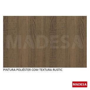 Mesa Madesa Retangular Tampo de Vidro 5381 Rustic/Bronze