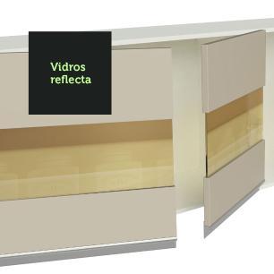 Cozinha Compacta 100% MDF Madesa Smart 120 cm Modulada Com Balcão e Tampo
