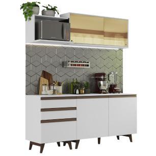 Cozinha Completa Madesa Reims 180001 com Armário e Balcão - Branco