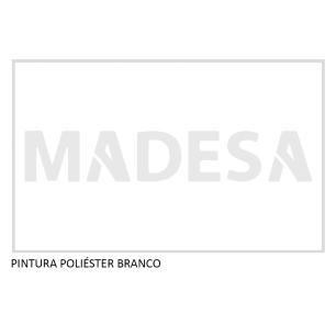 Kit Canto Reto Madesa Smart 2 Portas e Nicho Com Tampo 100% MDF - Branco