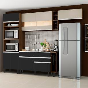 Cozinha Completa Madesa Safira com Armário e Balcão (Sem Tampo e Pia)