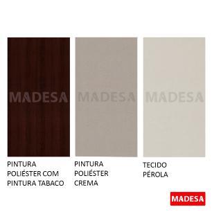 Kit 2 Cadeiras 4280 Madesa Tabaco/Pérola