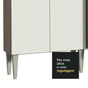 Cozinha Compacta Madesa Emilly Top com Armário e Balcão - Rustic/Branco