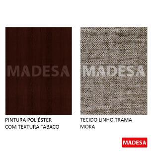 Kit 2 Cadeiras 4248 Madesa Tabaco/Trama Moka