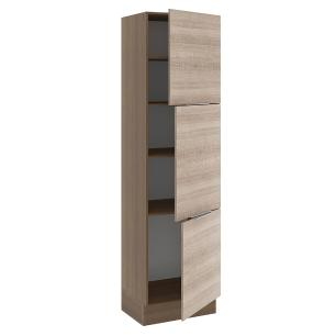 Paneleiro Madesa Stella 60 cm 3 Portas - Rustic/Saara