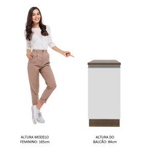 Balcão Madesa Glamy 40 cm 1 Porta - Rustic/Branco