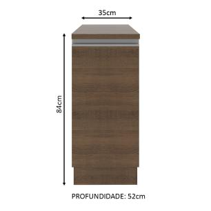 Balcão Madesa Glamy 35 cm 1 Porta - Rustic