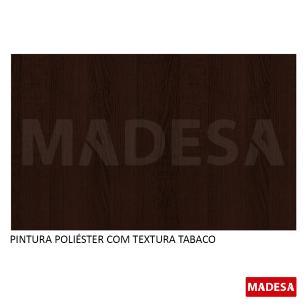 Mesa Madesa Quadrada Tampo de Vidro 5332 Tabaco