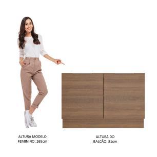 Balcão de Pia Madesa Stella 2 Portas - Rustic