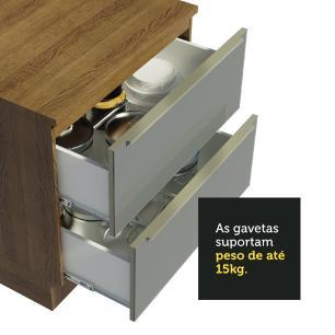 Cozinha Completa Madesa Lux com Armário e Balcão 6 Portas 5 Gavetas - Rustic/Cinza