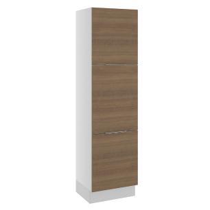 Paneleiro Madesa Stella 60 cm 3 Portas - Branco/Rustic