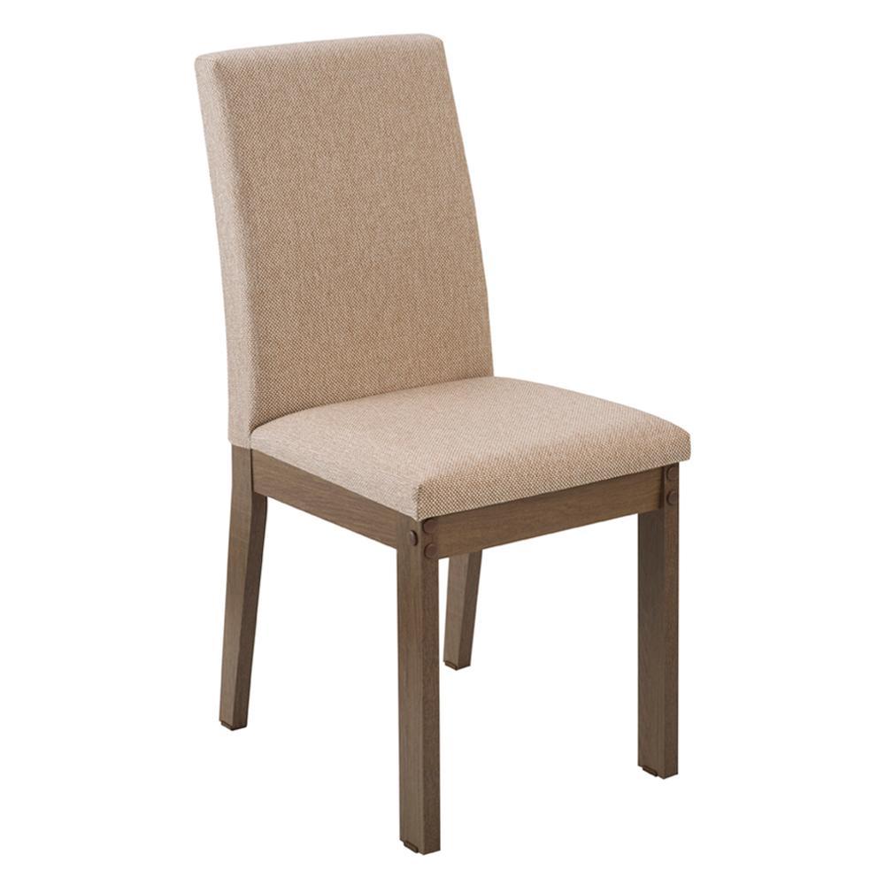 Kit 2 Cadeiras 4249 Madesa Rustic/Fendi