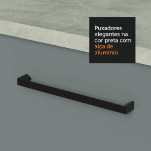 Armário Aéreo Madesa Agata 80 cm 2 Portas - Branco/Cinza