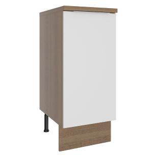 Balcão Madesa Stella 35 cm 1 Porta - Rustic/Branco