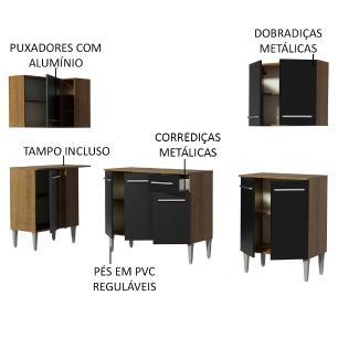 Cozinha Completa de Canto Madesa Emilly Open com Armário e Balcão