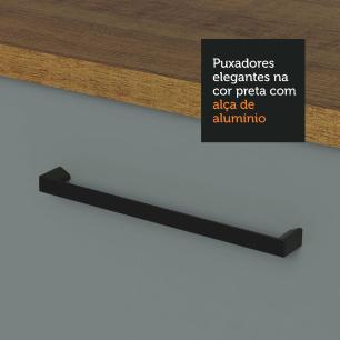 Balcão Madesa Agata 80 cm 2 Portas - Rustic/Cinza