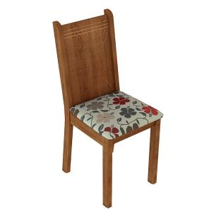 Kit 4 Cadeiras de Jantar 4290 Madesa Rustic/Hibiscos