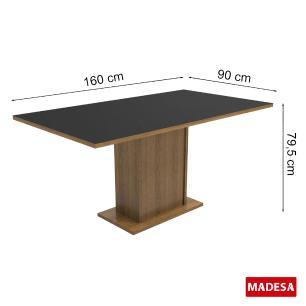 Conjunto Sala de Jantar Cristina Madesa Mesa Tampo de Madeira com 6 Cadeiras