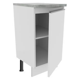 Balcão Madesa Glamy 40 cm 1 Porta - Branco