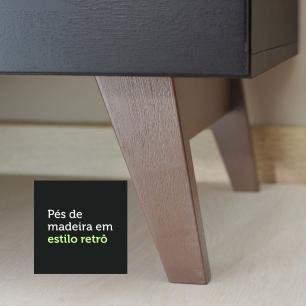 Balcão Madesa Reims 60 cm 3 Gavetas - Preto