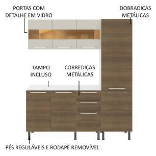 Cozinha Completa Compacta Madesa Lara com Armário e Balcão