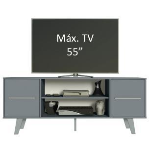 Rack para TV até 55 Polegadas Madesa Copenhagen - Cinza