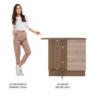 Balcão de Canto Madesa Stella 1 Porta - Rustic/Saara