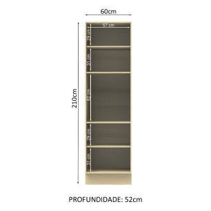 Paneleiro Madesa Rubi 60 cm 3 Portas - Tirol/Saara
