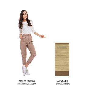 Balcão Madesa Agata 35 cm 1 Porta - Rustic/Carvalho