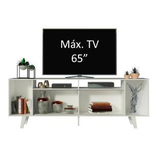 Rack para TV até 65 Polegadas Madesa Cancun com Pés - Branco