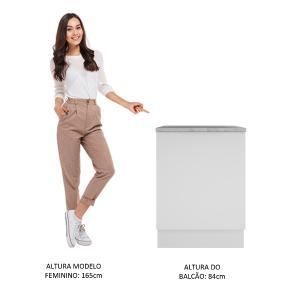 Balcão Madesa Stella 60 cm 1 Porta - Branco