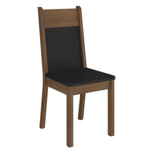 Kit 2 Cadeiras 4280 Madesa Rustic/Preto