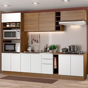 Cozinha Completa Madesa Stella 290001 com Armário e Balcão