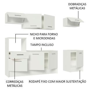 Cozinha Completa Madesa Onix 240001 com Armário e Balcão - Branco