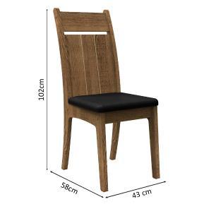 Conjunto Sala de Jantar Madesa Vita Mesa Tampo de Vidro com 6 Cadeiras