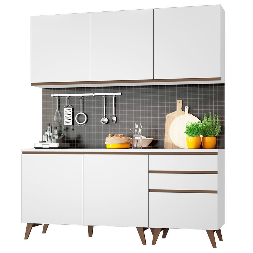 Cozinha Compacta Madesa Reims com Balcão - 5 Portas 3 Gavetas