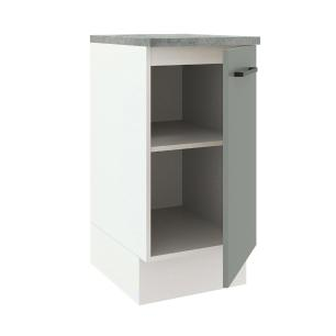Balcão Madesa Agata 40 cm 1 Porta - Branco/Cinza