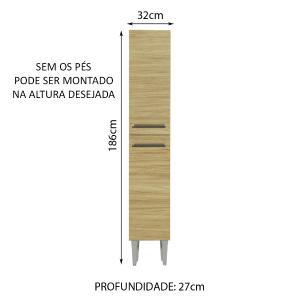 Paneleiro Madesa Emilly 2 Portas - Branco/Carvalho
