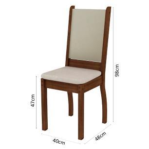 Conjunto Sala de Jantar Madesa Joyce Mesa Tampo de Madeira com 4 Cadeiras