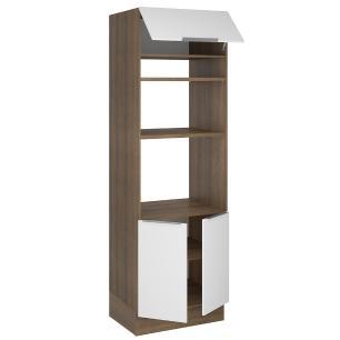 Torre Quente Madesa Stella 70 cm 3 Portas - Rustic/Branco