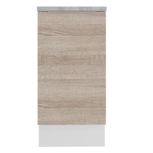 Balcão Madesa Stella 40 cm 1 Porta - Branco/Saara