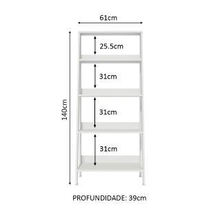 Estante Escada para Livros com 4 Prateleiras Madesa