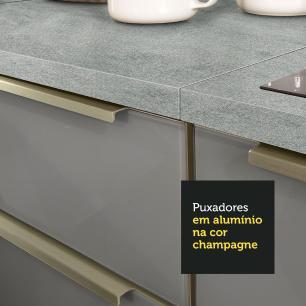 Cozinha Completa Madesa Lux com Armário e Balcão - Branco/Cinza