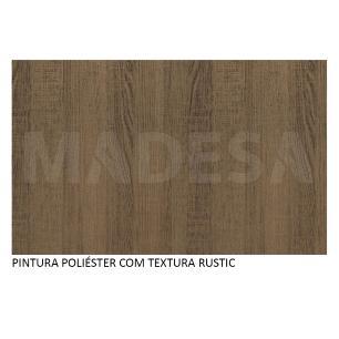 Mesa Madesa com Tampo de Madeira 5339 - Rustic