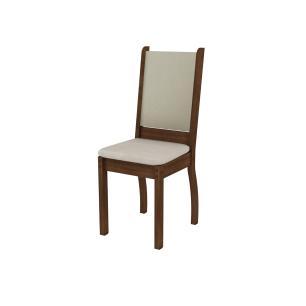 Kit 2 Cadeiras 4238 Madesa Rustic/Crema/Pérola